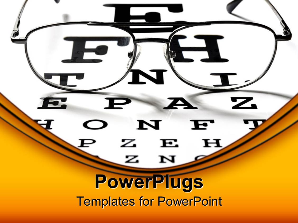 5000 ophthalmology powerpoint templates w ophthalmology themed colorful presentation design having ophthalmology theme optical view eyeglasses on vision test chart template size toneelgroepblik Gallery
