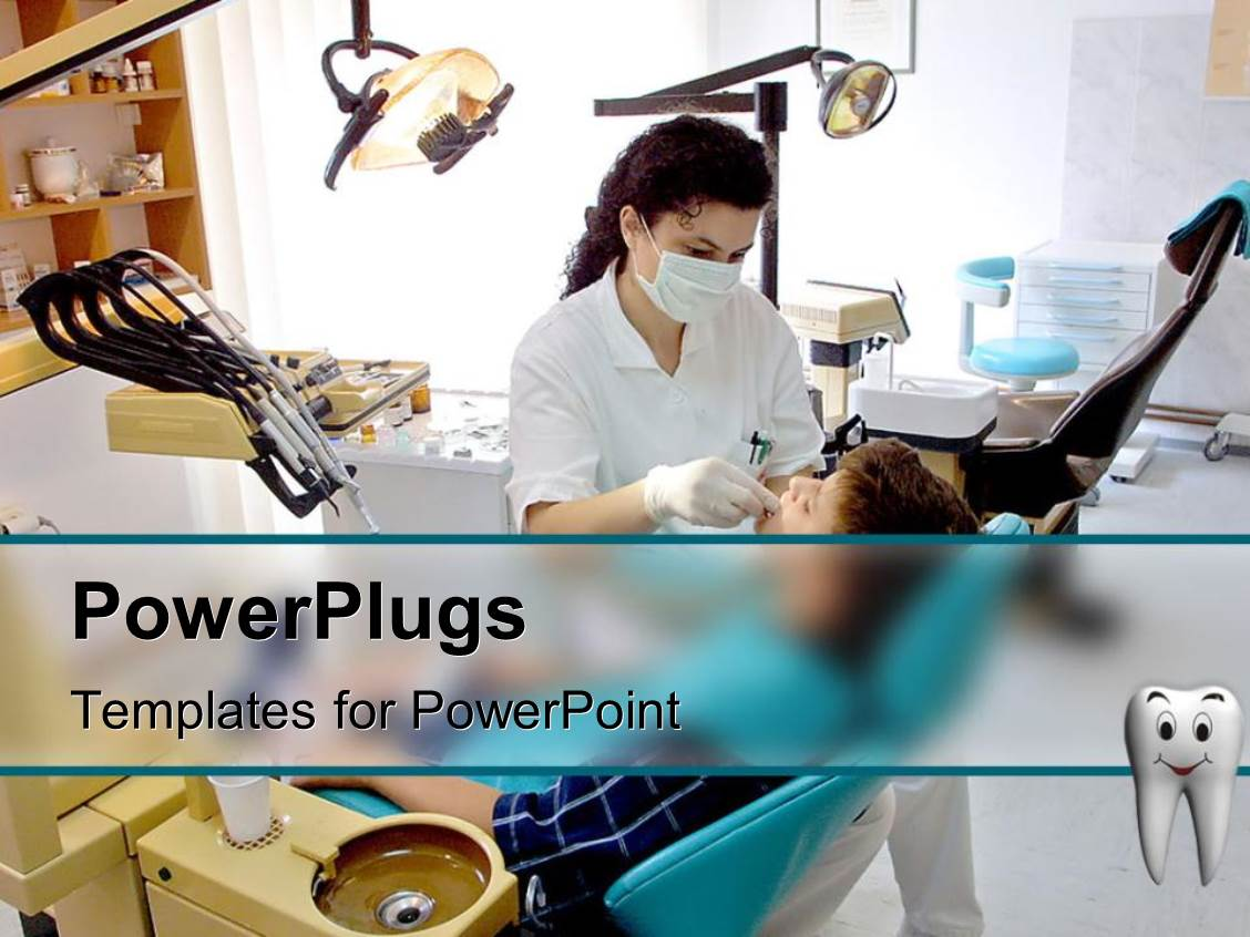 Dental powerpoint templates ppt themes with dental backgrounds presentation design consisting of patient and female dentist in dental office equipment chair template size alramifo Gallery