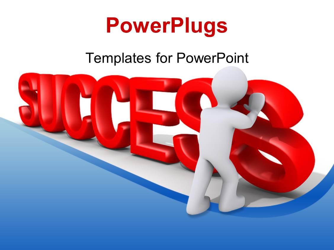 Top success powerpoint templates backgrounds slides and ppt themes elegant presentation theme enhanced with a person arranging the word success with white background template size alramifo Gallery