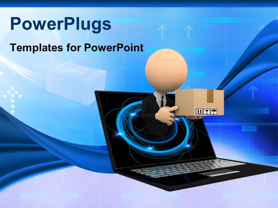 Powerpoint template a person with a box popping out of computer powerpoint template displaying a person with a box popping out of computer screen alramifo Choice Image