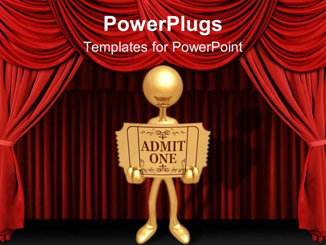 5000 movie theater powerpoint templates w movie theater themed beautiful ppt theme with a person holding a card with stage in the background template size toneelgroepblik Image collections
