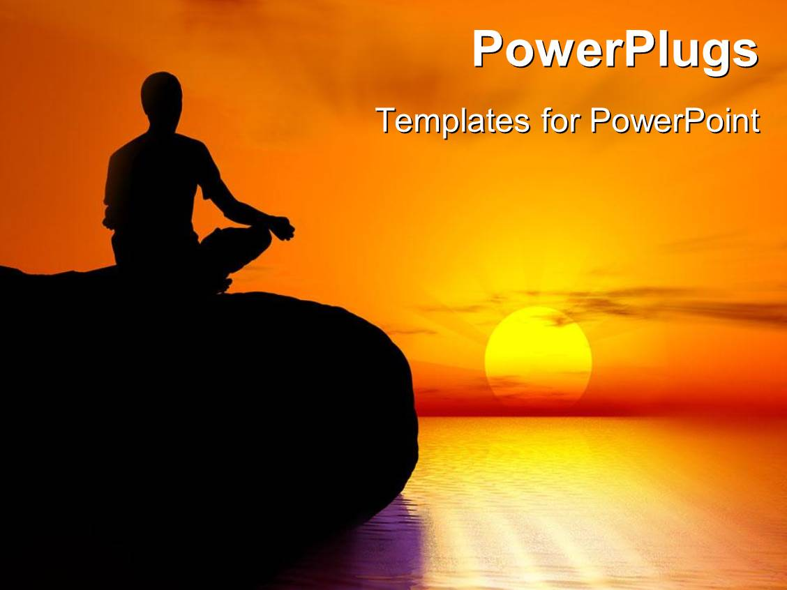 5000 meditation powerpoint templates w meditation themed backgrounds colorful theme having a person practicing yoga on a beach toneelgroepblik Images