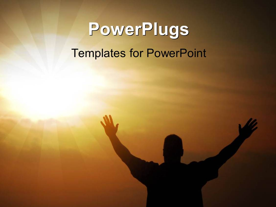 5000 journey powerpoint templates w journey themed backgrounds ppt theme with a person praying to the lord with sun in the background template size toneelgroepblik Gallery