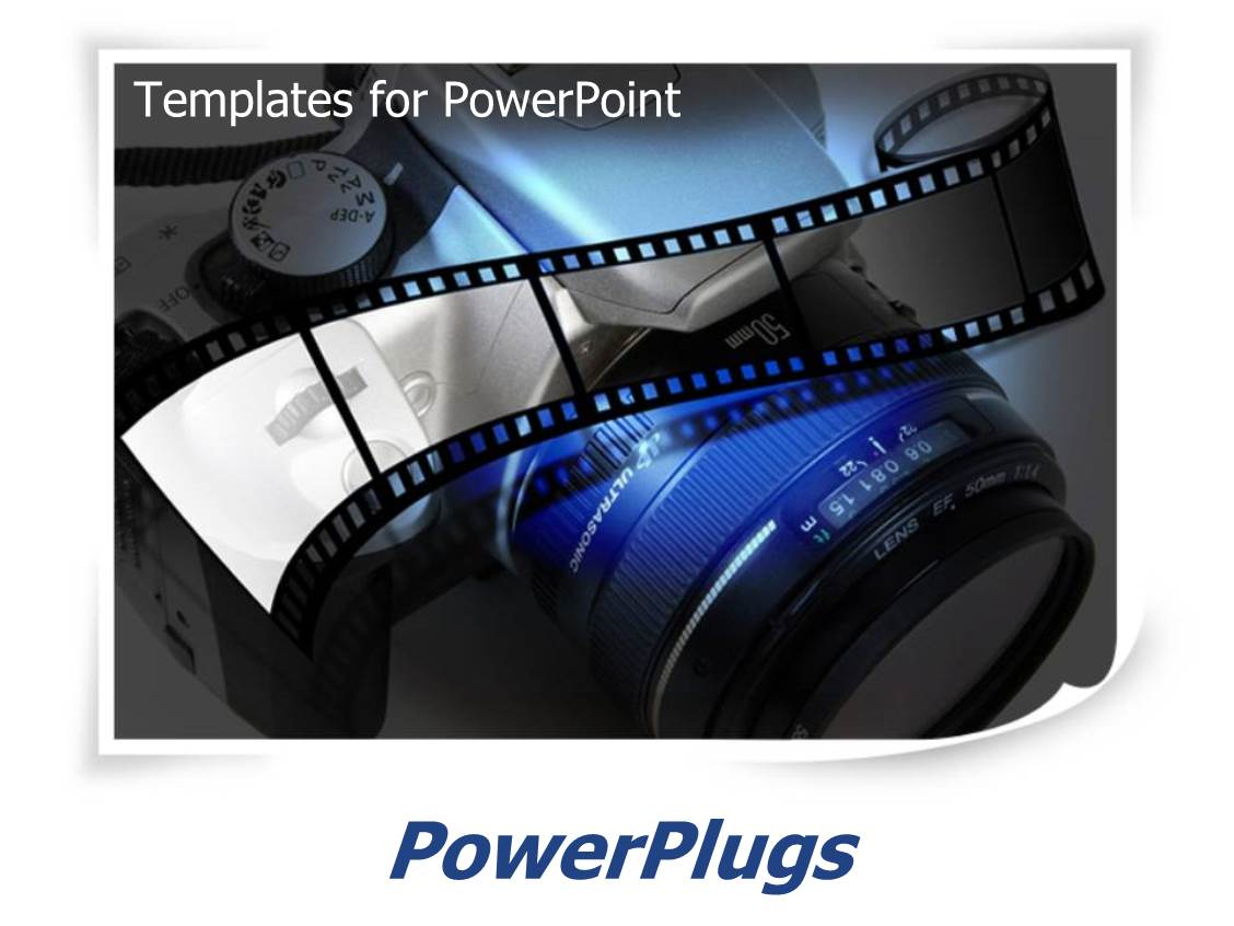 Powerpoint template a photograph with two cameras and lens 6361 ppt theme consisting of photography with film and slr camera lens in blue white toneelgroepblik Images