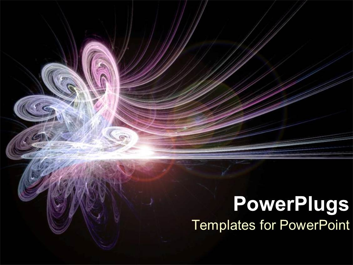 PowerPoint Template Displaying Pink and Purple Energy as Conceptual Abstract on Space Background
