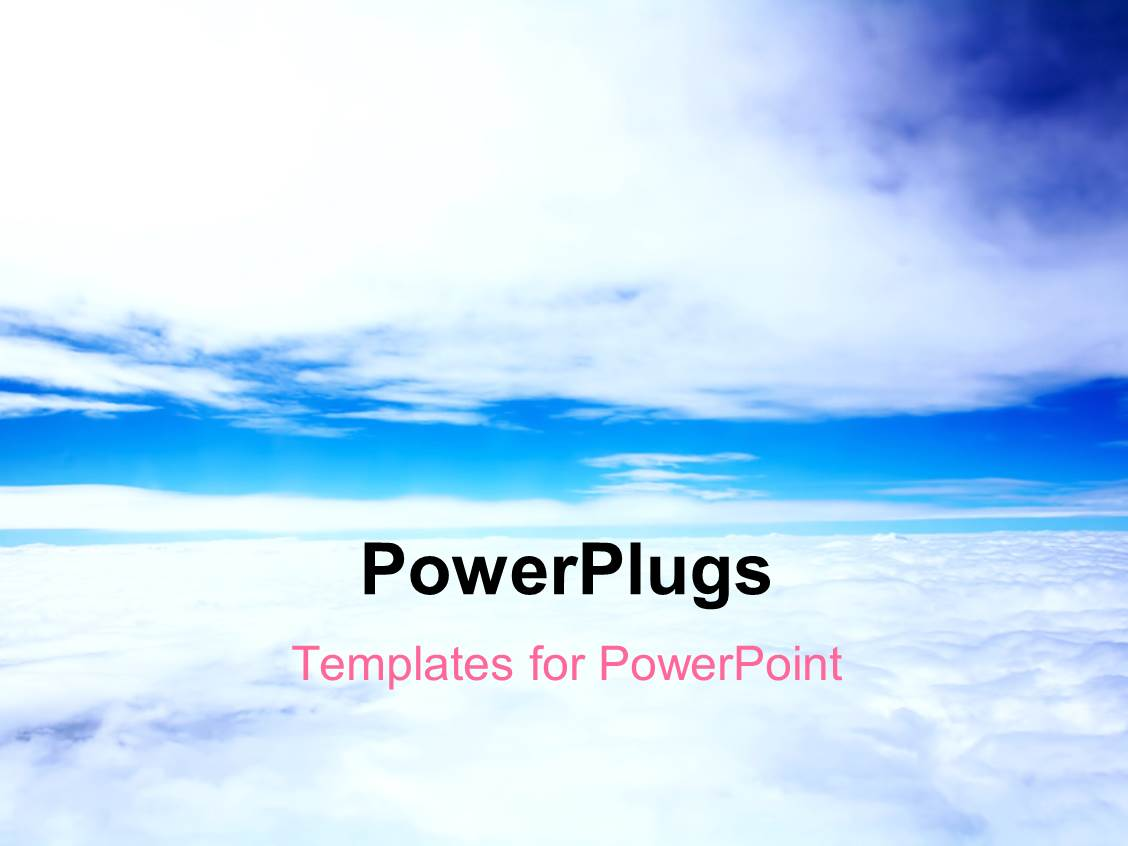 Cloud powerpoint template gallery templates example free download cloud powerpoint templates ppt themes with cloud backgrounds presentation having plain blue sky with white clouds toneelgroepblik Choice Image