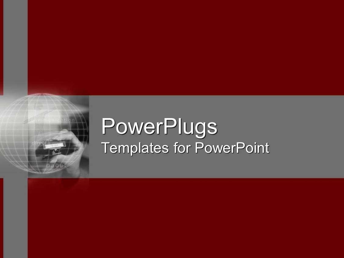PowerPoint Template: plain red and ash background surface with a ...