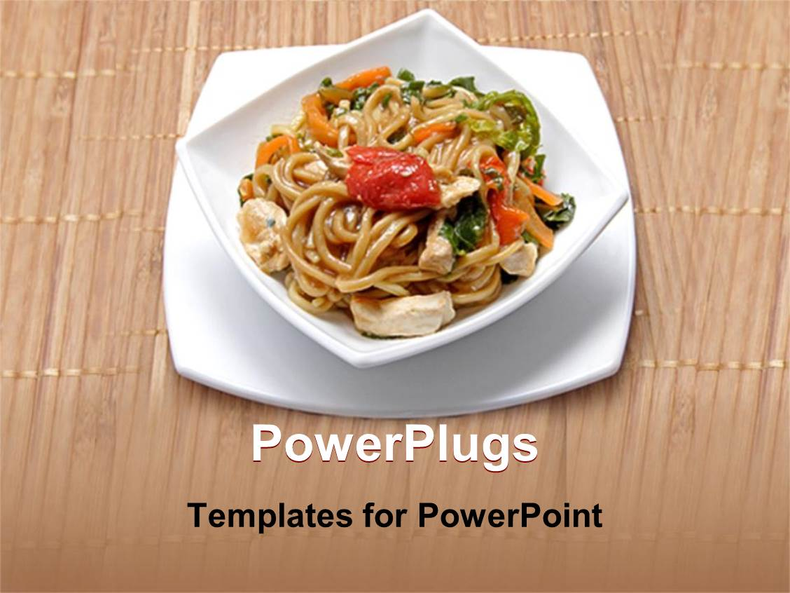 5000 noodles powerpoint templates w noodles themed backgrounds colorful ppt layouts having plate of delicious chinese noodles with vegetables and meat template size toneelgroepblik Choice Image