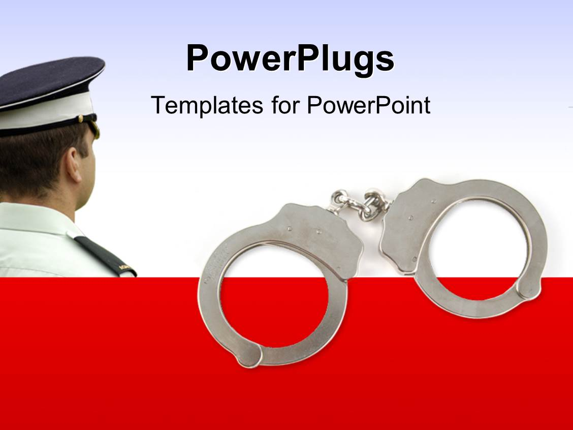 Top police powerpoint templates backgrounds slides and ppt themes ppt theme with police officer with handcuffs with white color alramifo Image collections