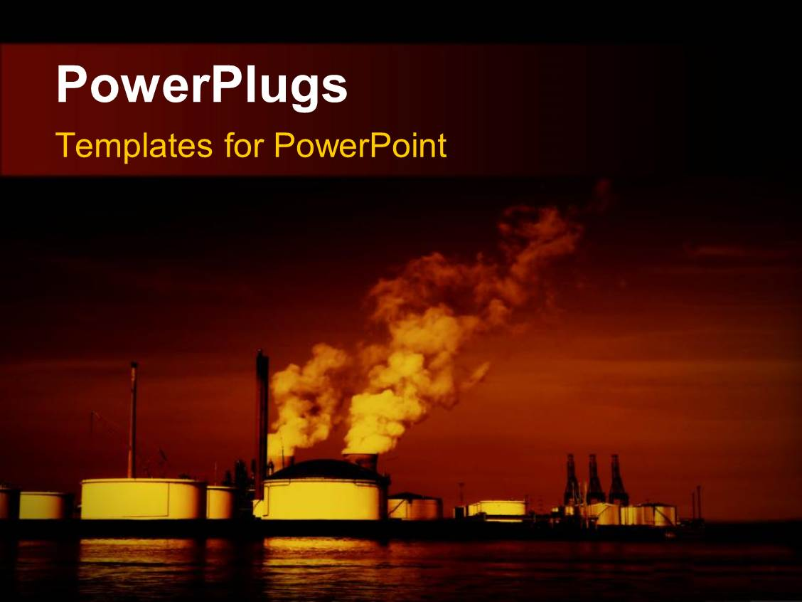 Nuclear energy powerpoint templates crystalgraphics elegant ppt layouts enhanced with pollution coming out of factories with sea toneelgroepblik Choice Image