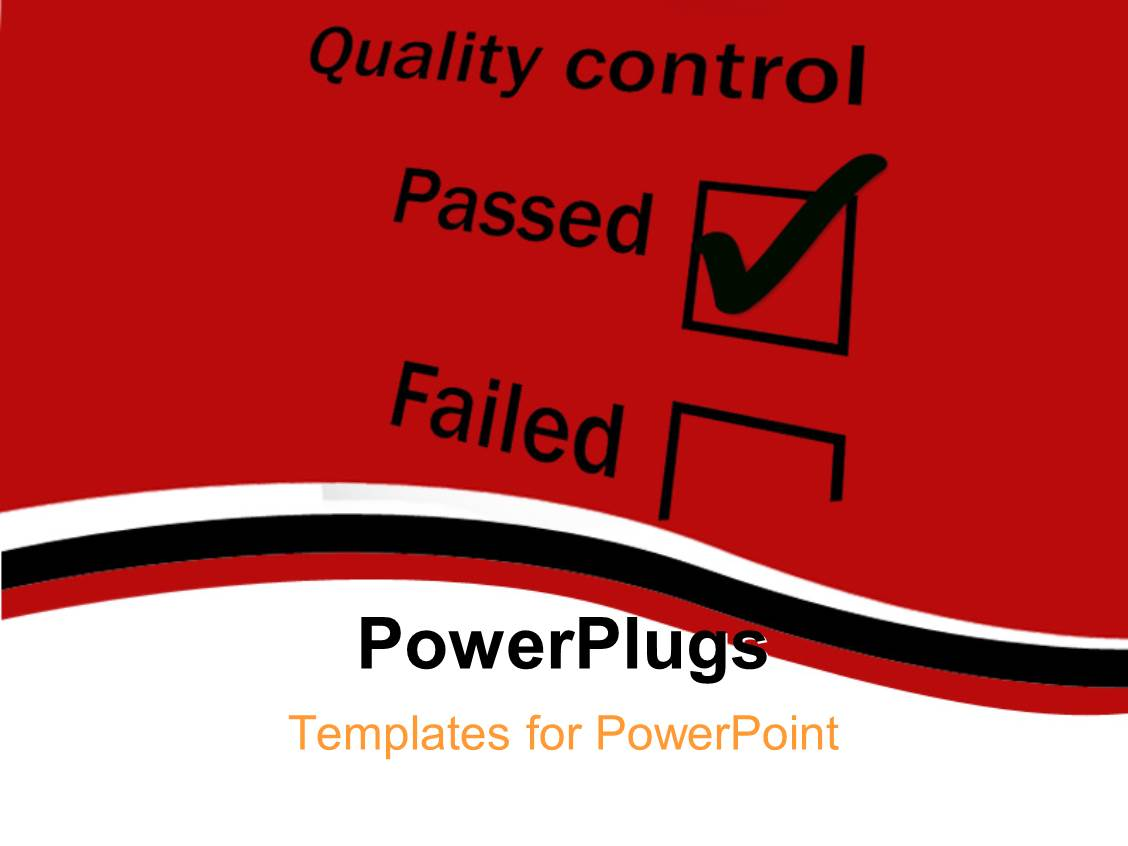 5000 control powerpoint templates w control themed backgrounds presentation theme enhanced with quality control tick box with passed ticked and dark red toneelgroepblik Image collections