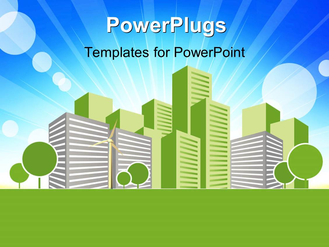 powerpoint template real estate concept vector art design