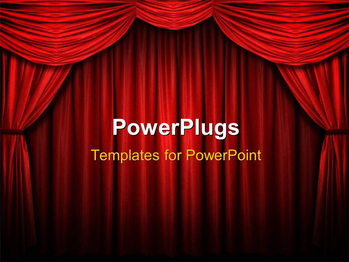 PowerPoint Template: Red stage curtain with arch entrance with ... for Red Curtain Background Powerpoint  270bof
