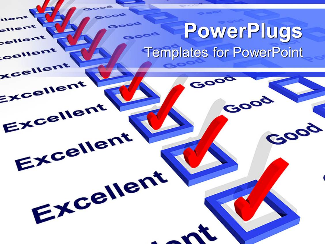 Survey powerpoint templates ppt themes with survey backgrounds amazing slide deck consisting of a report card with all the excellent boxes being checked template size alramifo Image collections