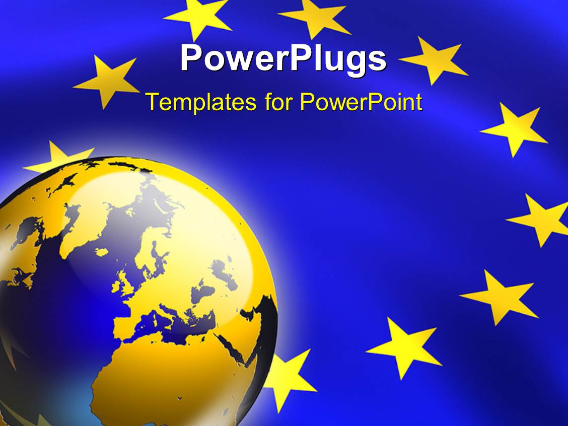 European union powerpoint templates crystalgraphics ppt layouts with the representation of european union along with a globe template size toneelgroepblik Image collections