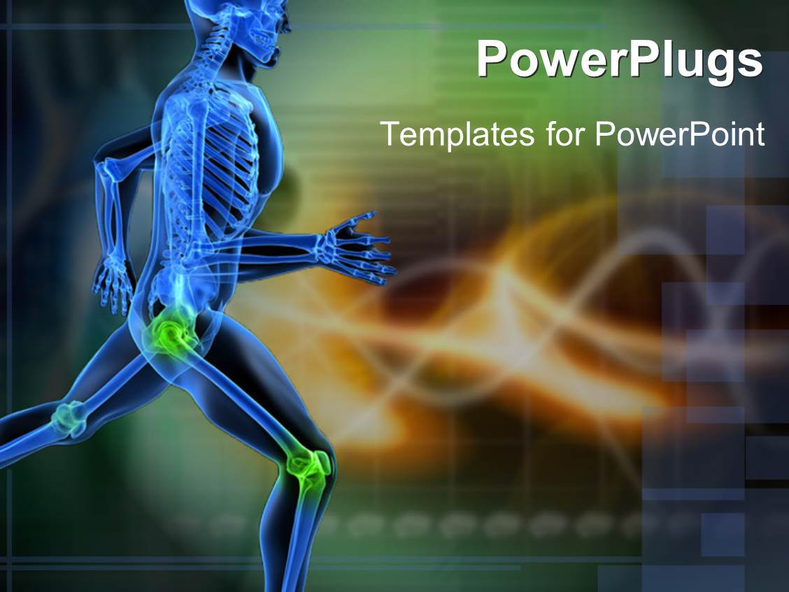 5000 bone powerpoint templates w bone themed backgrounds elegant presentation enhanced with a running skeleton with highlighted joints toneelgroepblik Gallery