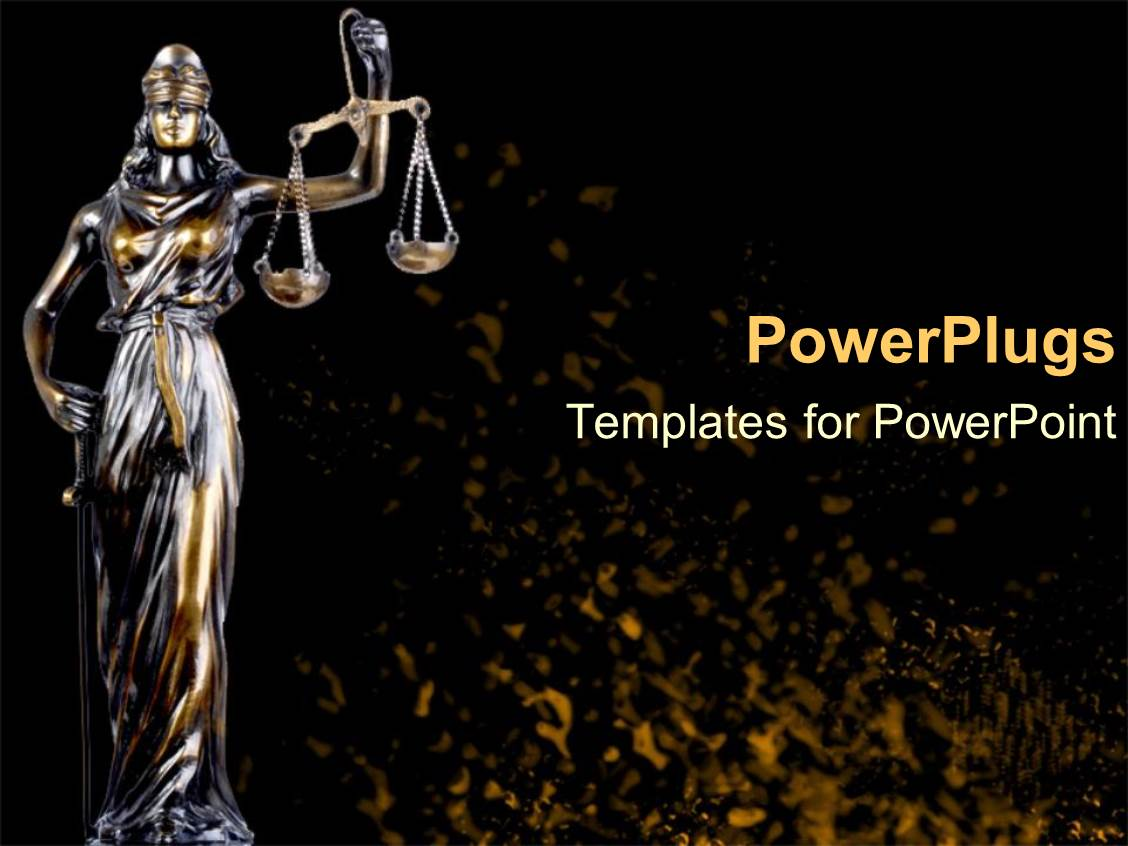 Powerpoint template a balance showing the law and justice on maroon slide deck with scale of justice law and order statue legal systems judicial system toneelgroepblik Images
