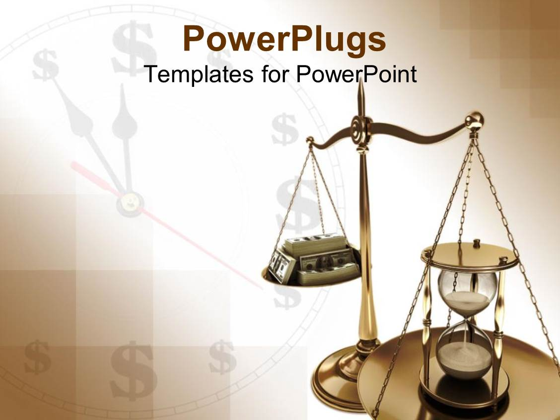Powerpoint template 3d man with clock head and weighing scale of beautiful ppt theme with scales of justice with hourglass opposite stack of case against clock background toneelgroepblik Choice Image