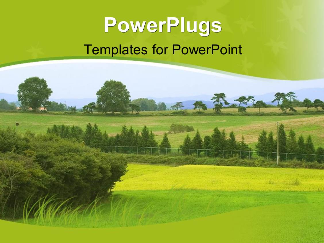 Powerpoint template scenery of nature with green lawns and trees powerpoint template displaying scenery of nature with green lawns and trees in distance alramifo Choice Image