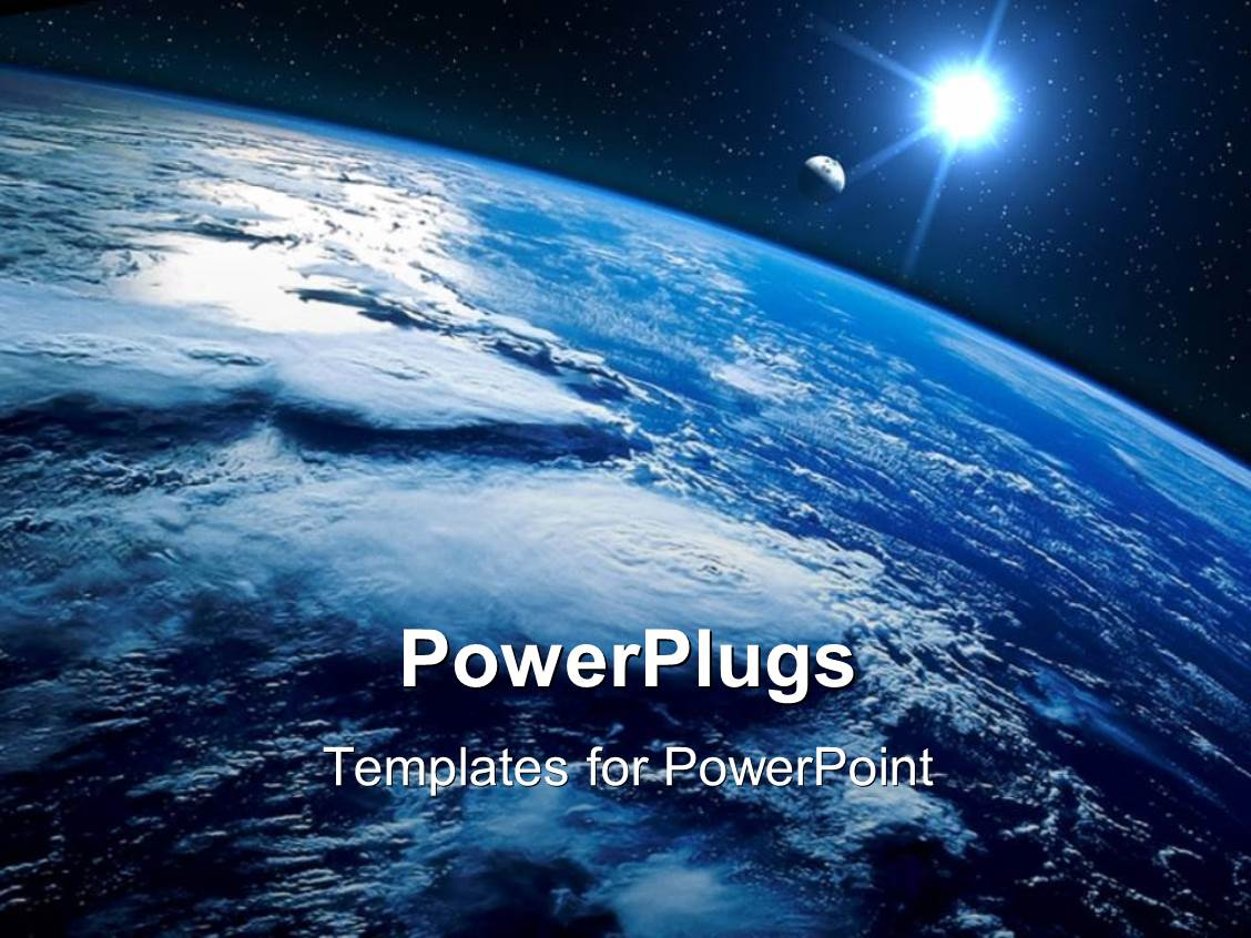 Powerpoint template sight of earth from the space and planet powerpoint template displaying sight of earth from the space and planet shining with stars toneelgroepblik Image collections