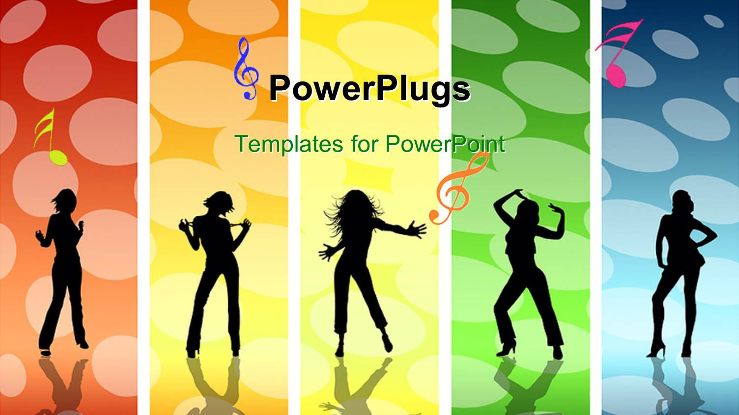 5000 dance powerpoint templates w dance themed backgrounds ppt theme featuring a group of dancing girls with colorful background template size toneelgroepblik Gallery