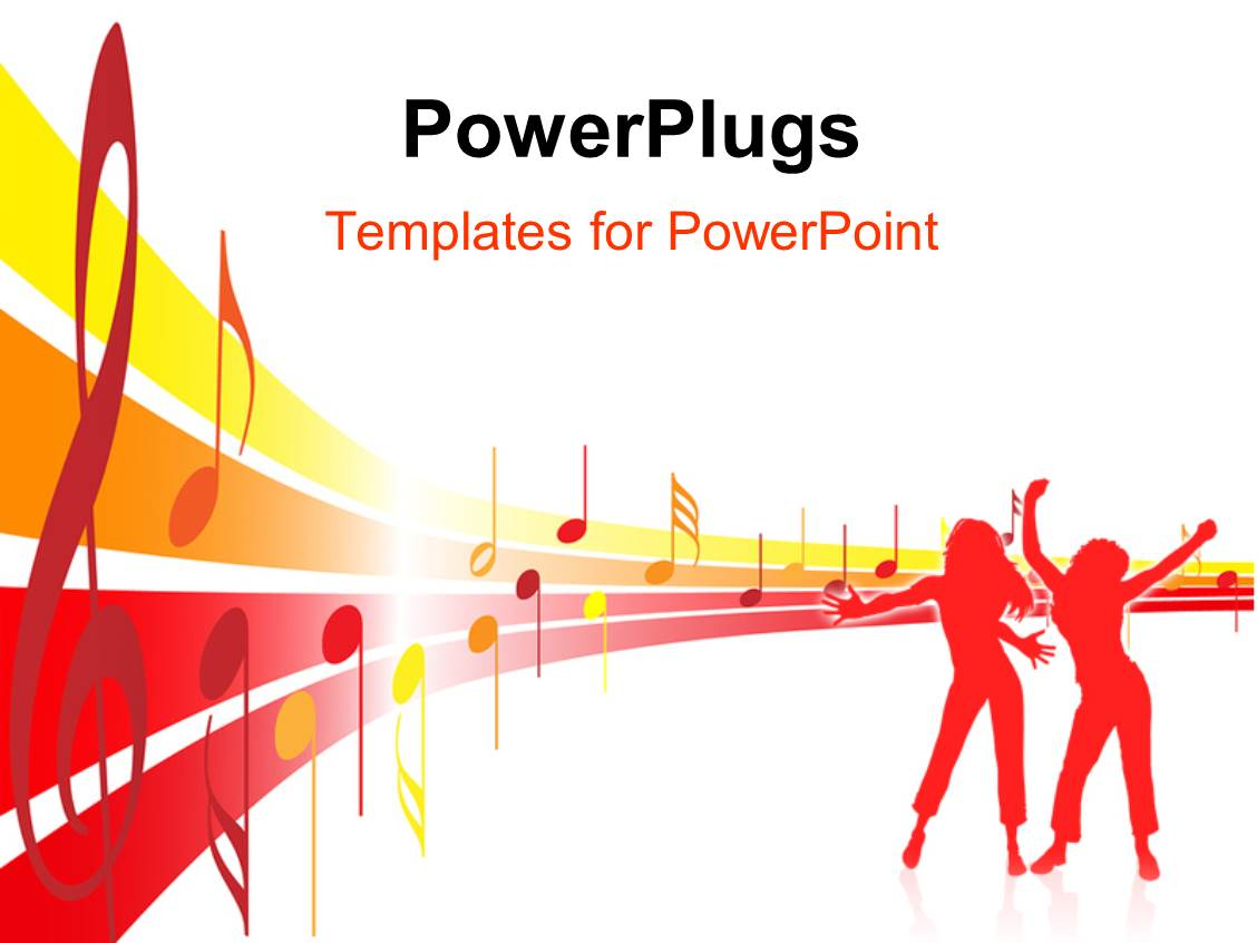 Powerpoint templates music choice image templates example free powerpoint template music theme depicting old fashioned vintage colorful slides having silhouette of people dancing with toneelgroepblik Choice Image