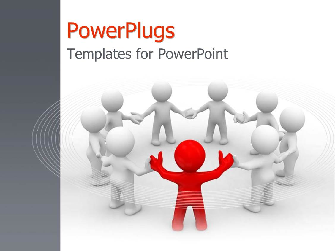 Powerpoint template a singled out person as a metaphor for leader powerpoint template displaying a singled out person as a metaphor for leader of the team with alramifo Images