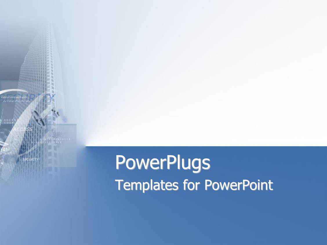 Security powerpoint templates ppt themes with security backgrounds presentation theme having skyscraper on blue and white background template size presentation alramifo Image collections
