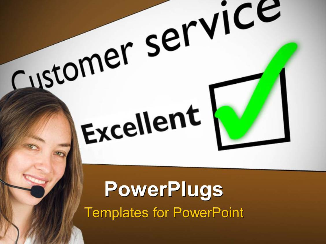 5000 customer service powerpoint templates w customer service amazing presentation consisting of smiling woman wearing headset next to excellent customer service feedback card template size amazing presentation toneelgroepblik Gallery