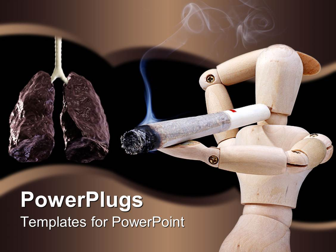 powerpoint template smoking is dangerous for health 26564
