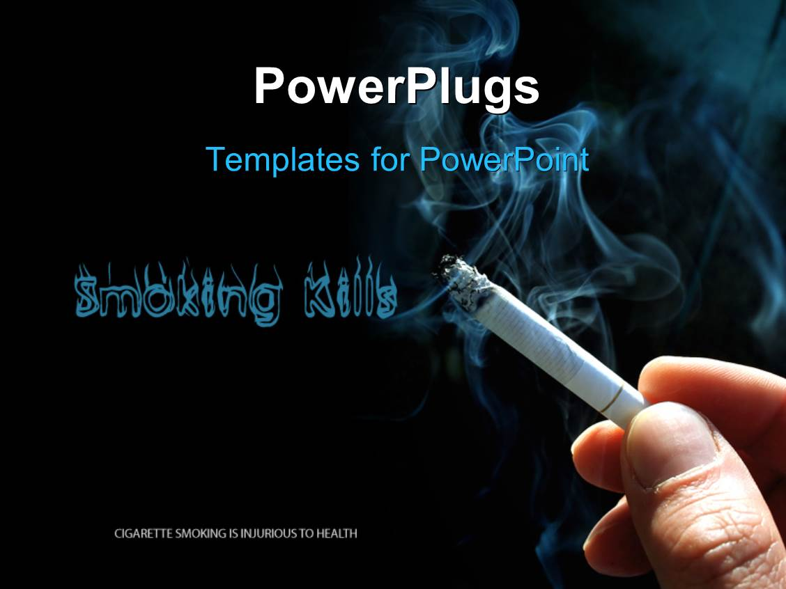 Powerpoint template industrial plant with smoke and skull made of amazing presentation design consisting of smoking kills concept with cigarette and smoke toneelgroepblik Choice Image