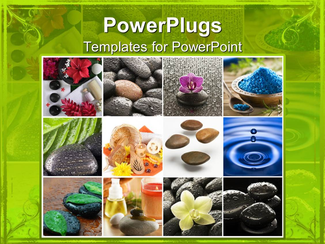 Powerpoint template spa zen natural collage with stones flowers powerpoint template displaying spa zen natural collage with stones flowers water candles toneelgroepblik Gallery