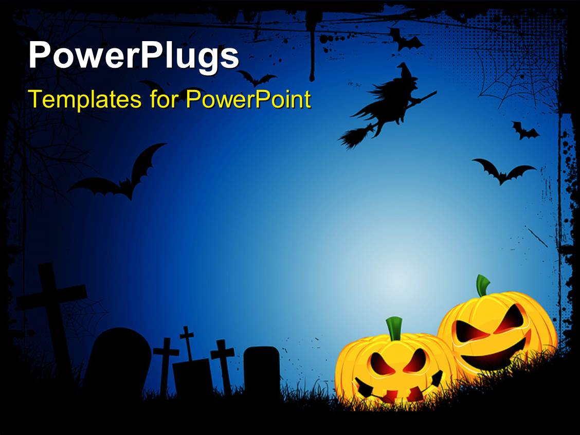 5000 spooky powerpoint templates w spooky themed backgrounds colorful presentation theme having spooky halloween background with spooky jack o lanterns in a graveyard with toneelgroepblik Gallery