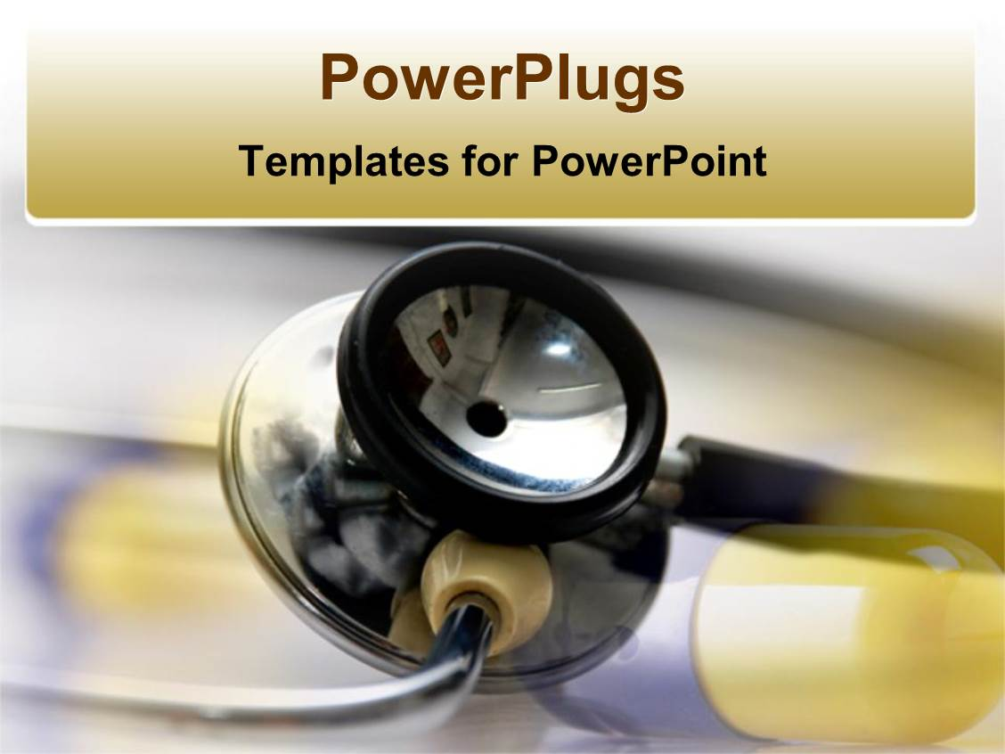 5000 medical equipment powerpoint templates w medical equipment audience pleasing ppt theme featuring stethoscope medical equipment with blue and yellow transparent pill background toneelgroepblik Gallery