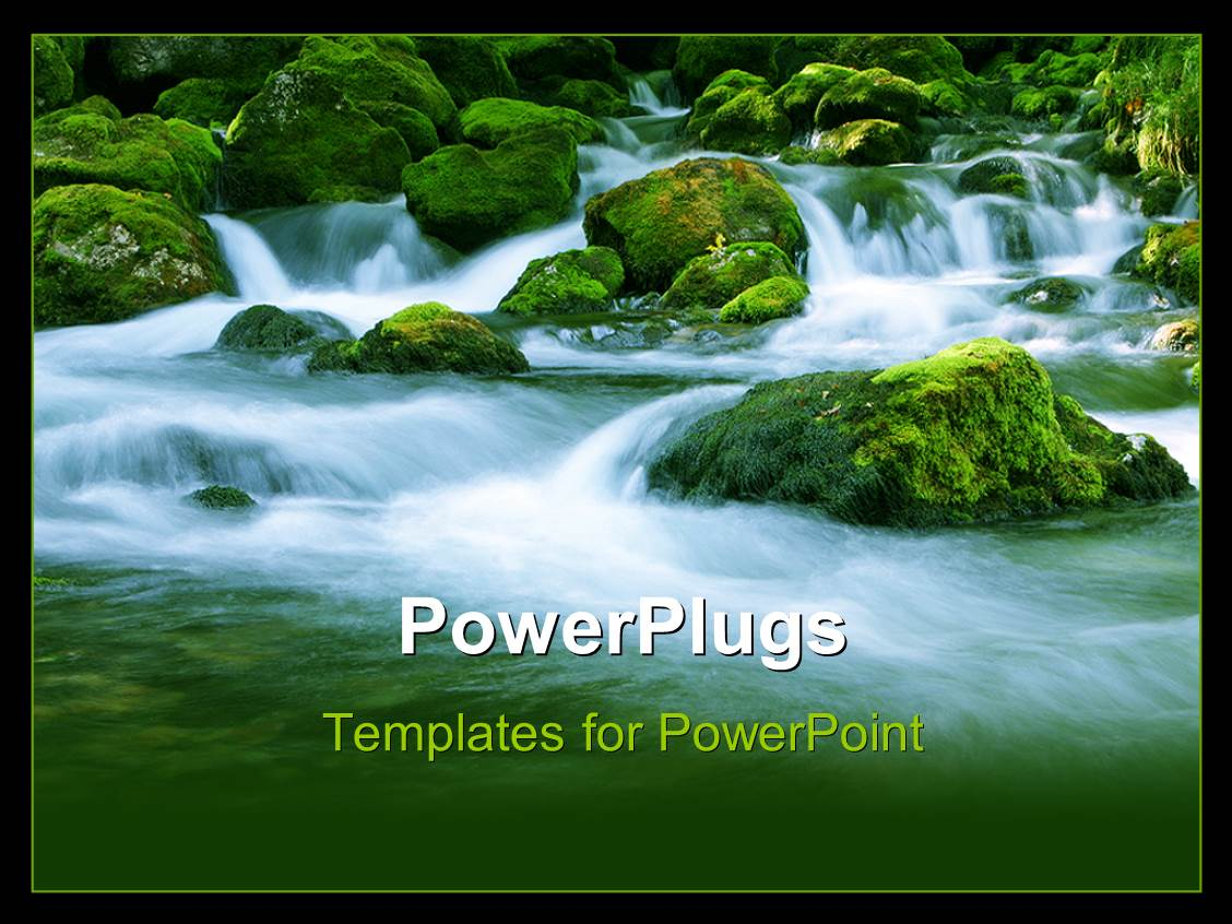 Powerpoint template a stream coming from a mountain with greenish powerpoint template displaying a stream coming from a mountain with greenish background toneelgroepblik Image collections