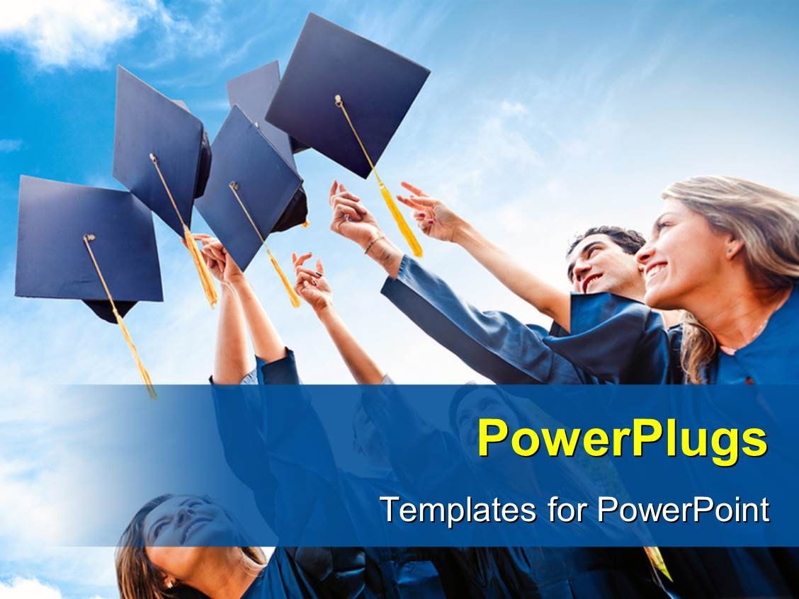 5000 graduation powerpoint templates w graduation themed backgrounds ppt theme consisting of successful students throwing graduation hats in the air template size toneelgroepblik Choice Image
