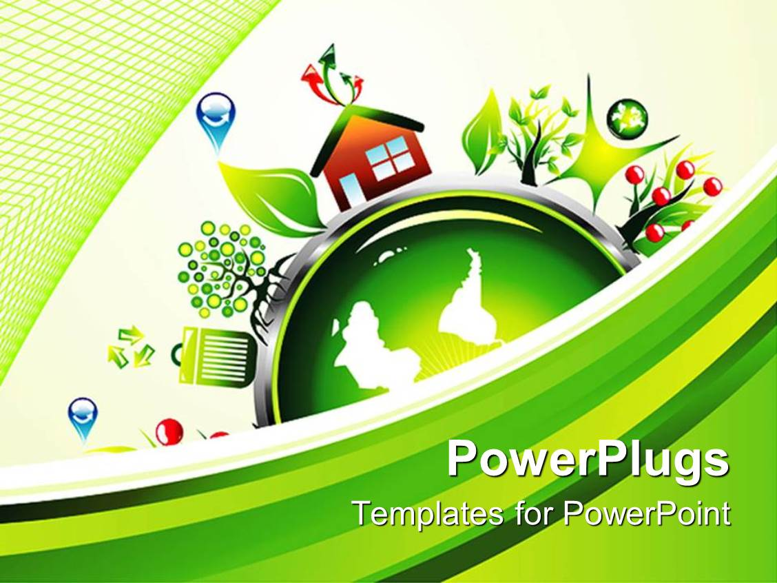 5000 environment powerpoint templates w environment themed backgrounds ppt layouts having symbols of recycling and environmentalist around a globe on a green and white template size toneelgroepblik Gallery