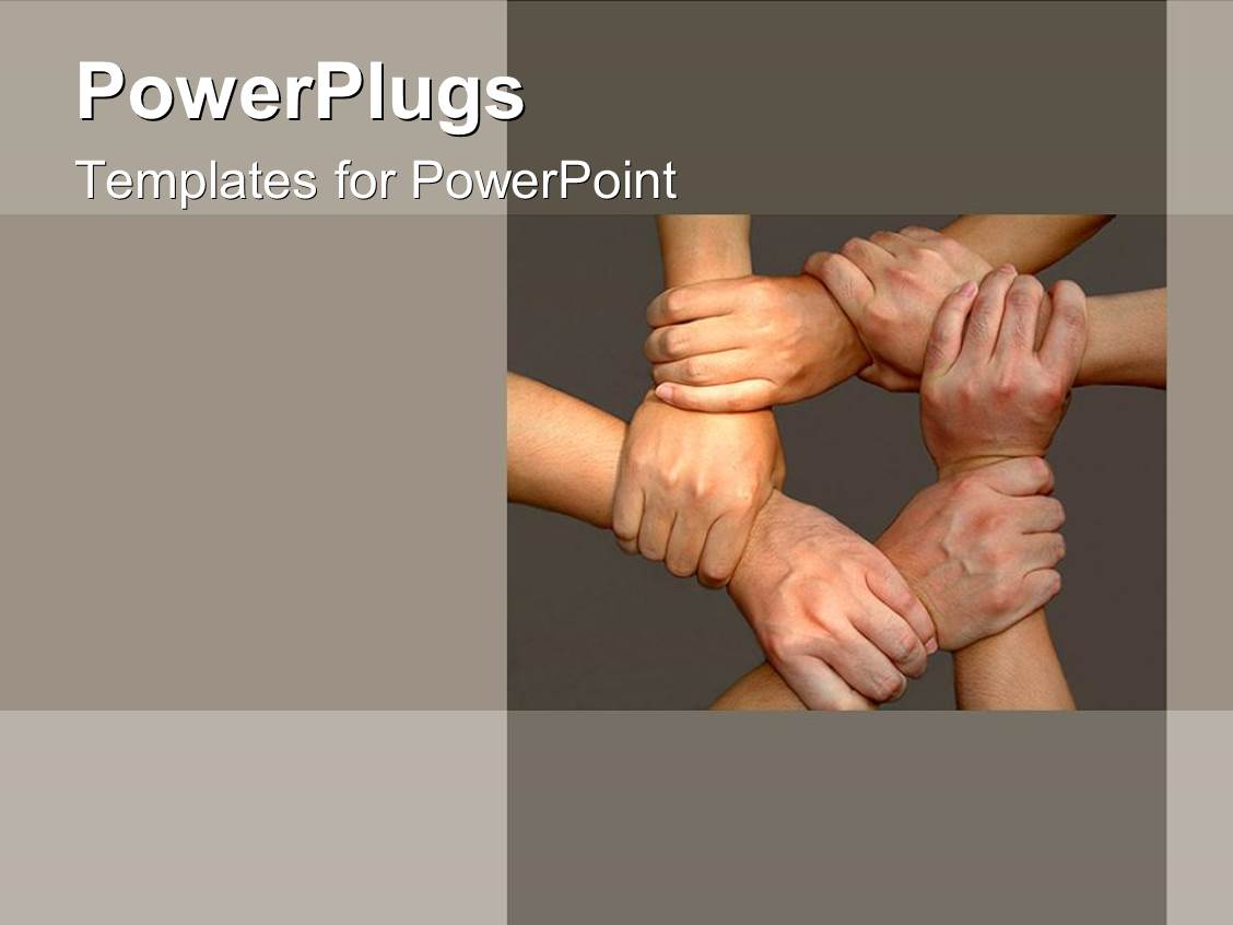 Award winning powerpoint templates themes backgrounds ppt slides beautiful presentation theme with tan hands come together for team on grey background as a metaphor template size toneelgroepblik Choice Image