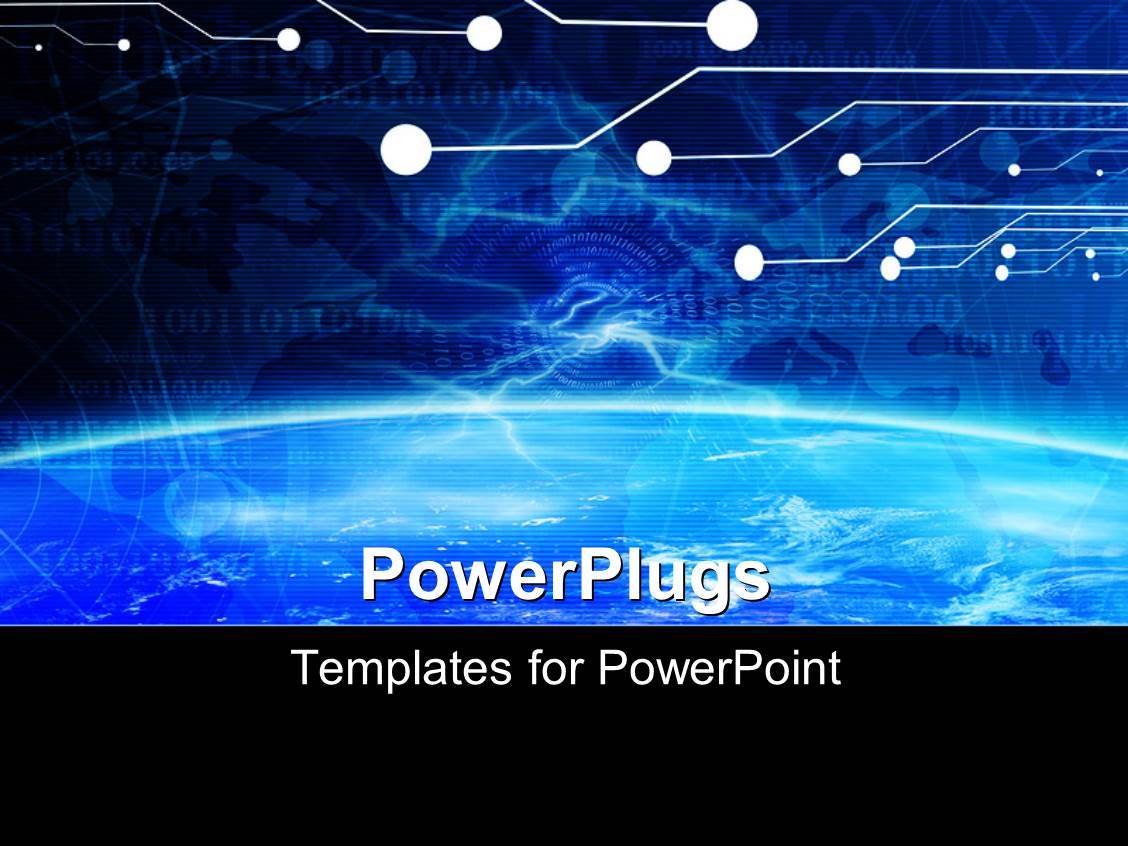 5000 technology powerpoint templates w technology themed backgrounds presentation theme having technology banner on a soft blue digital background with binary code template size toneelgroepblik Choice Image
