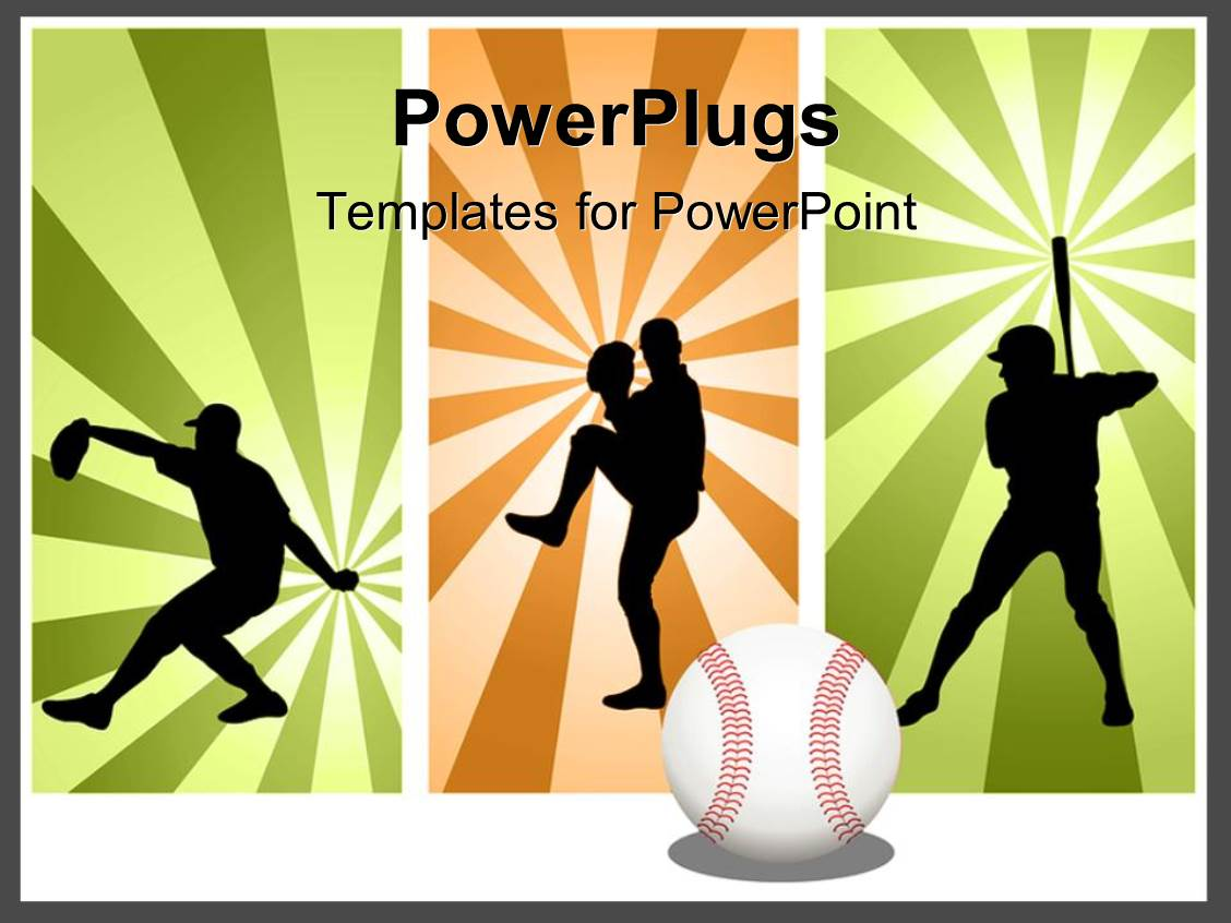 Powerpoint template three tiles with men playing baseball in powerpoint template displaying three tiles with men playing baseball in different positions alramifo Images