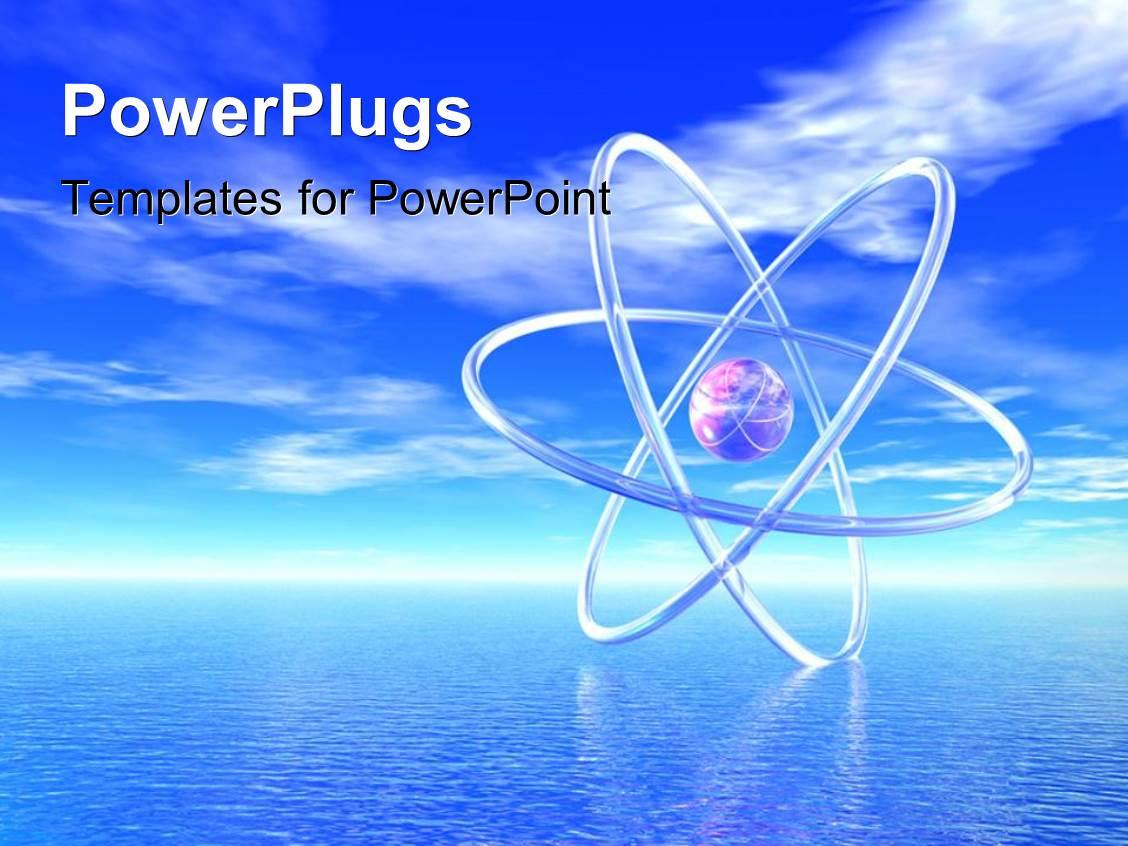 Nuclear energy powerpoint templates crystalgraphics elegant ppt theme enhanced with tropical atom 3d an atom in a serene tropical setting toneelgroepblik Gallery
