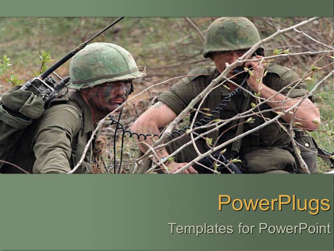 Army rotc powerpoint templates crystalgraphics presentation theme featuring two army men during the war template size presentation toneelgroepblik Choice Image
