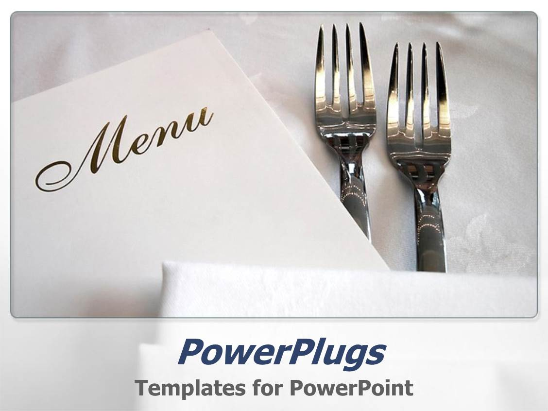 5000 catering powerpoint templates w catering themed backgrounds elegant ppt layouts enhanced with two forks and the menu card with white background template size toneelgroepblik Images
