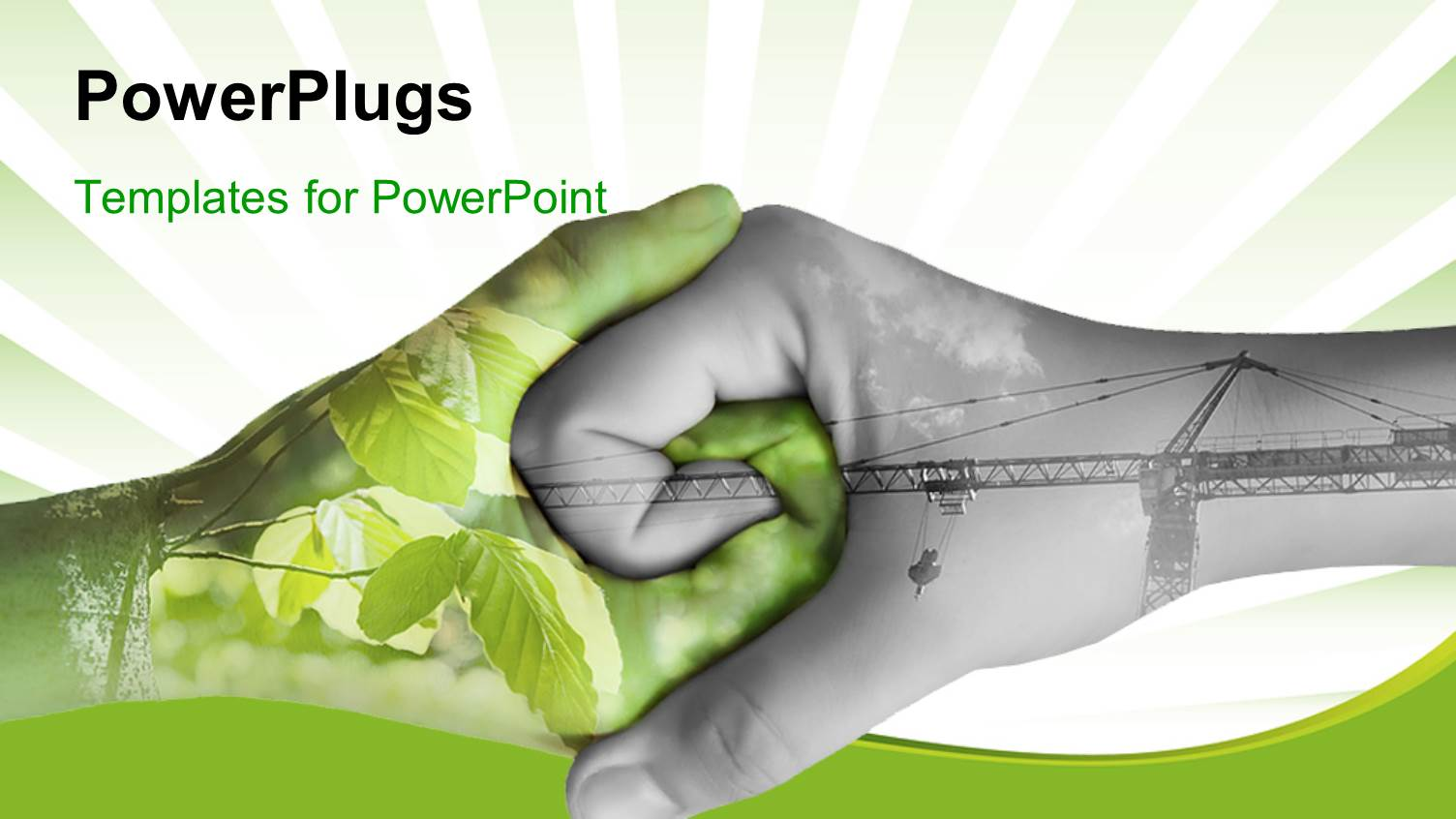 Powerpoint template human hand holding private and confidential audience pleasing ppt theme featuring two hands depicting nature and industry holding each other toneelgroepblik Choice Image