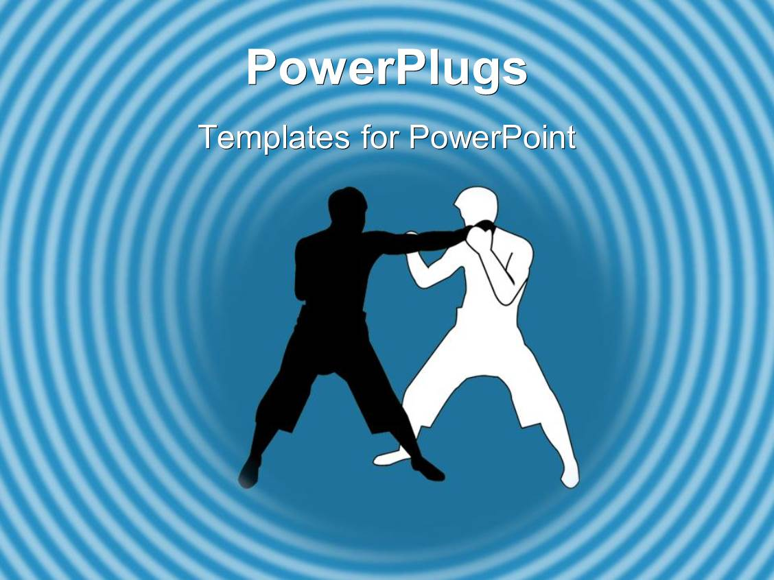 5000 martial arts powerpoint templates w martial arts themed colorful presentation theme having two men doing martial arts in light blue background toneelgroepblik Images