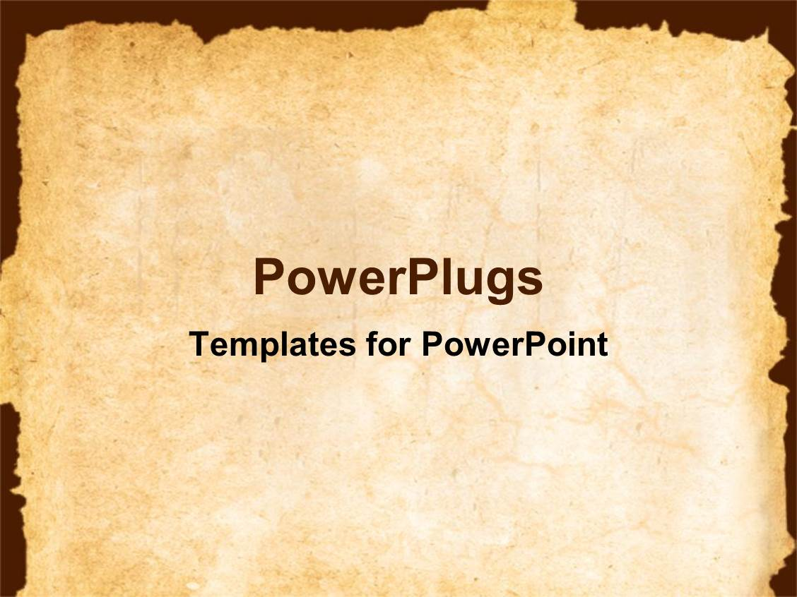 Powerpoint template old brown paper with slightly burnt edges 22455 ppt theme enhanced with vintage background showing old paper with irregular margins toneelgroepblik Gallery