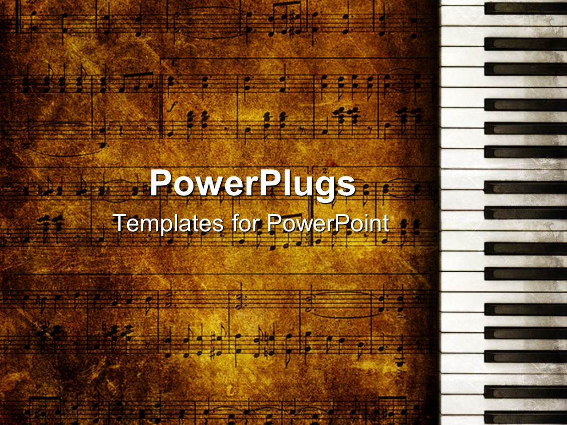 Powerpoint template vintage looking music themed for Music themed powerpoint templates
