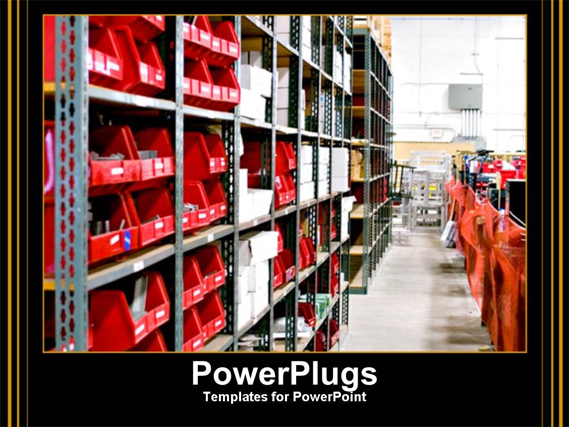 5000 warehouse powerpoint templates w warehouse themed backgrounds ppt layouts enhanced with warehouse work red bins placed in warehouse isles template size toneelgroepblik Gallery