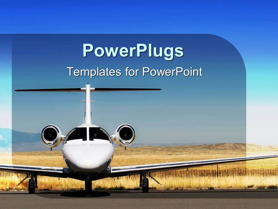 Airport powerpoint templates ppt themes with airport backgrounds ppt theme having white airplane parked at airport blue sky template size toneelgroepblik Images