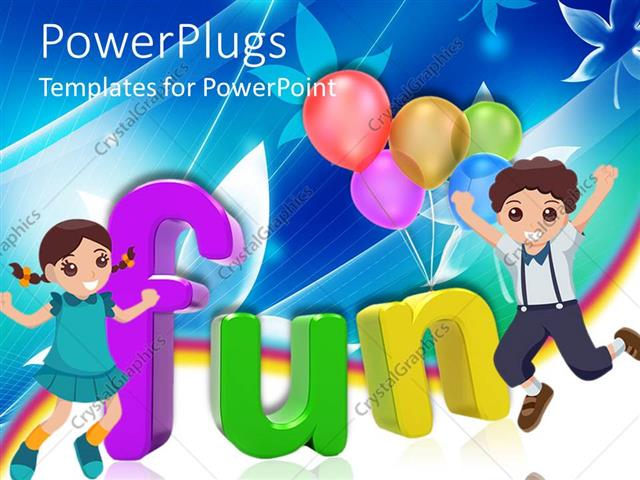 Powerpoint Template 3d Colored Letters Writing The Word Fun With